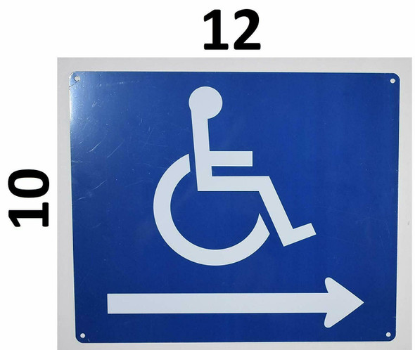 Wheelchair Accessible Symbol  - Right