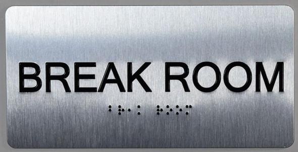 Break Room  Signage  ADA -Floor Number Tactile Touch Braille  Signage