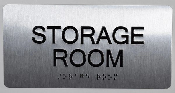 Storage Room  Signage -Tactile Touch Braille  Signage