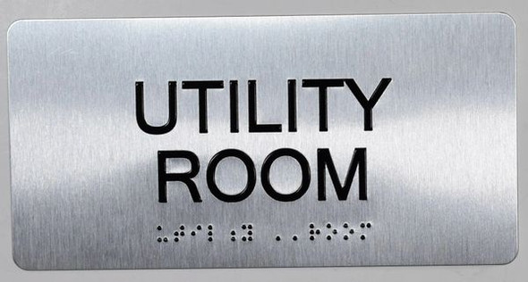 Utility Room  -Tactile Touch Braille