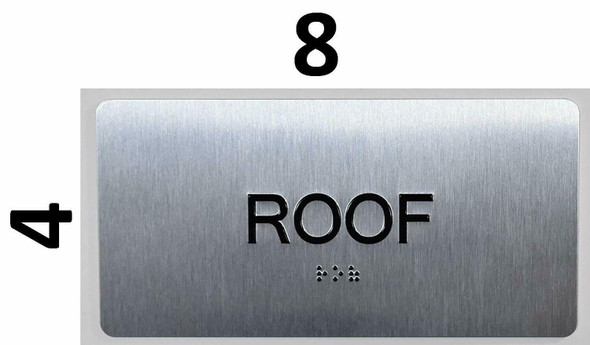 ROOF Floor Number  -Tactile Touch Braille