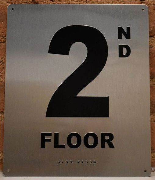 2ND Floor Sign-Tactile Signage