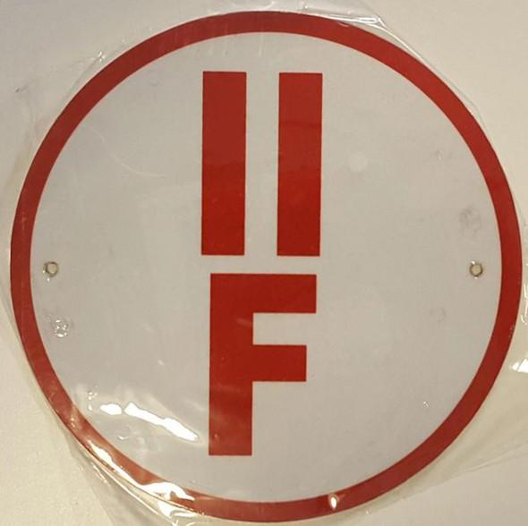 II-F Floor Truss Circular  Signage
