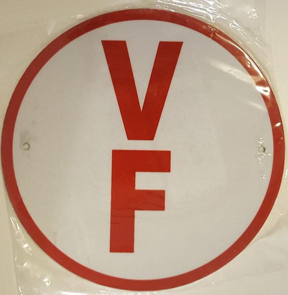 V F Floor Truss Circular  Signage