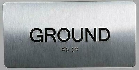 Ground Floor sinage -Tactile Touch Braille sinage