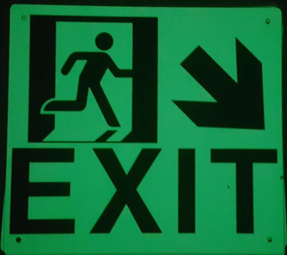 Exit Arrow Right Down