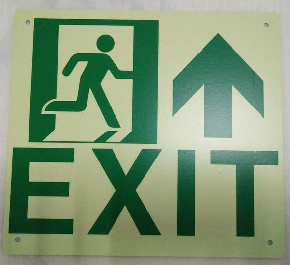 Exit Arrow UP  SignageGlow