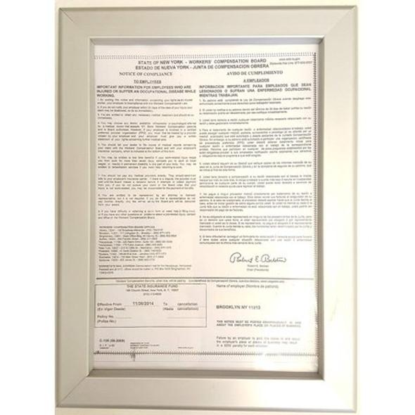 Worker's Compensation Inspection frame 8.5 Sign