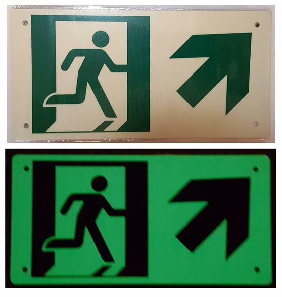 RUNNING MAN UP RIGHT ARROW  Signage