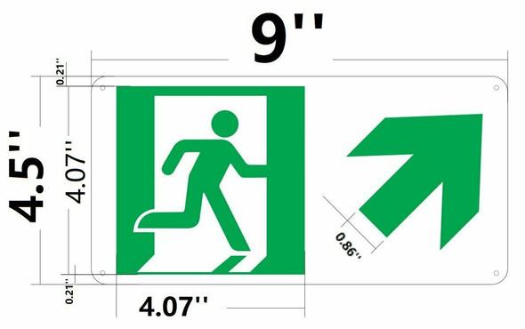 RUNNING MAN UP RIGHT ARROW
