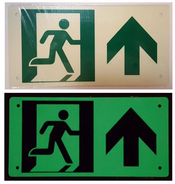 RUNNING MAN UP ARROW  Signage -