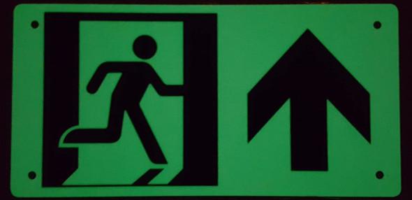 RUNNING MAN UP ARROW  -