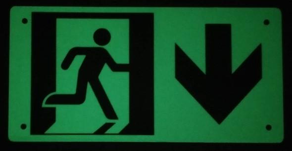 RUNNING MAN DOWN ARROW  -