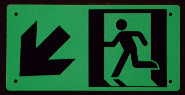 RUNNING MAN DOWN LEFT ARROW
