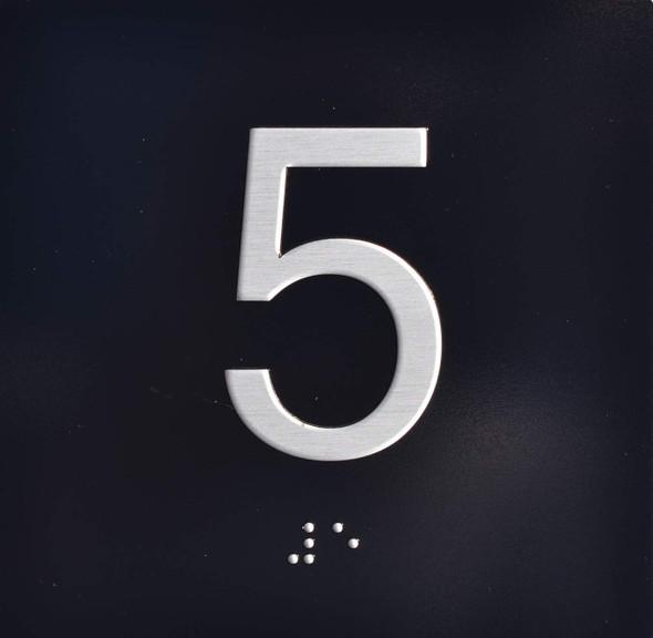 5TH Floor Elevator Jamb Plate  Signage