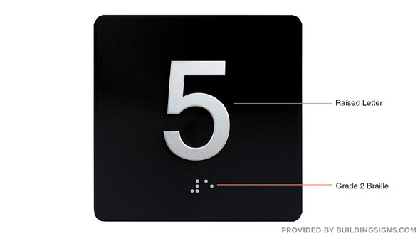 5TH Floor Elevator Jamb Plate