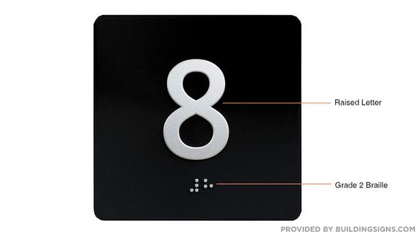 8TH Floor Elevator Jamb Plate