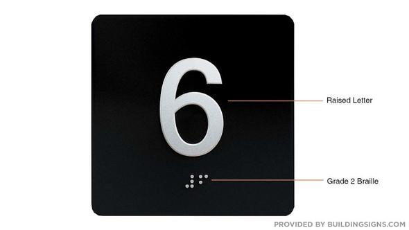 6TH Floor Elevator Jamb Plate