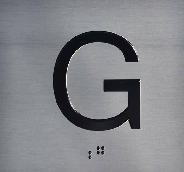Ground Elevator Jamb G Plate  Signage