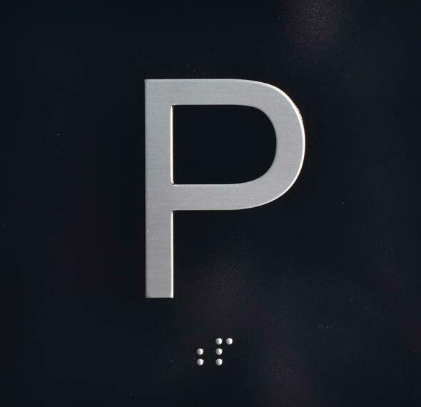P Elevator Jamb Plate  Signage Parking