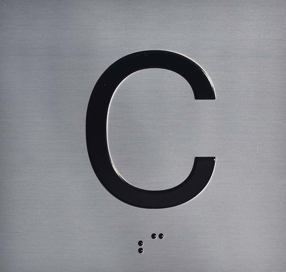 C Floor Elevator Jamb Plate  Signage