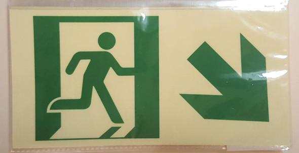 RUNNING MAN DOWN RIGHT ARROW EXIT