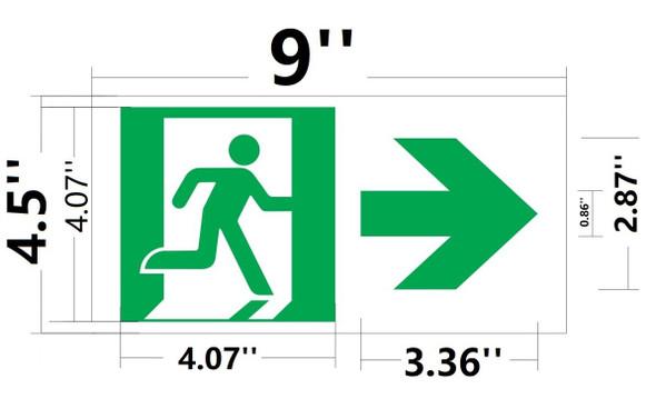 RUNNING MAN RIGHT ARROW EXIT