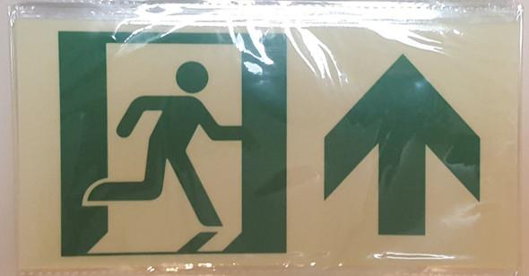 RUNNING MAN FORWARD ARROW  Signage -Glow-In-The-Dark