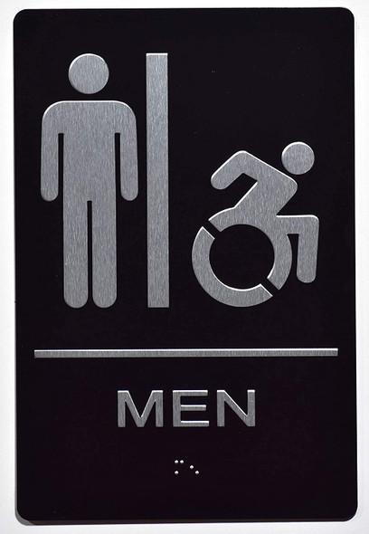 Men ACCESSIBLE Restroom  Signage,