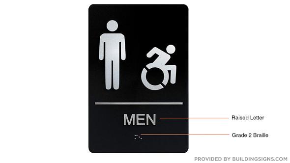 Men ACCESSIBLE Restroom ,