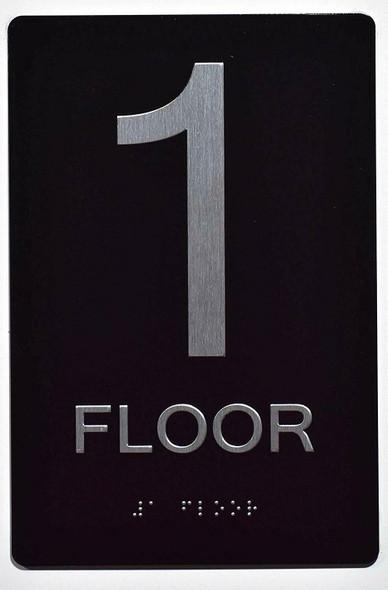 1ST FLOOR ADA  Signage BLACK