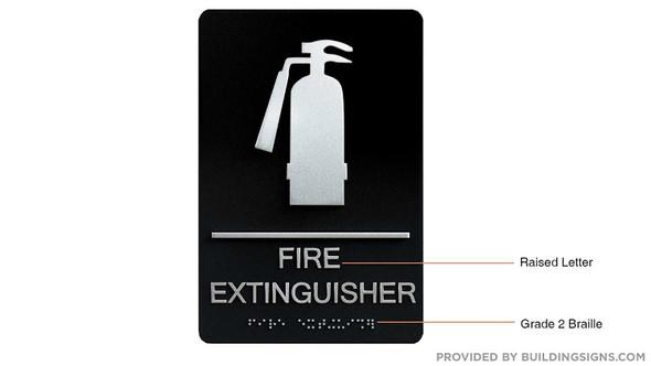 FIRE Extinguisher  Black-ADA  ,