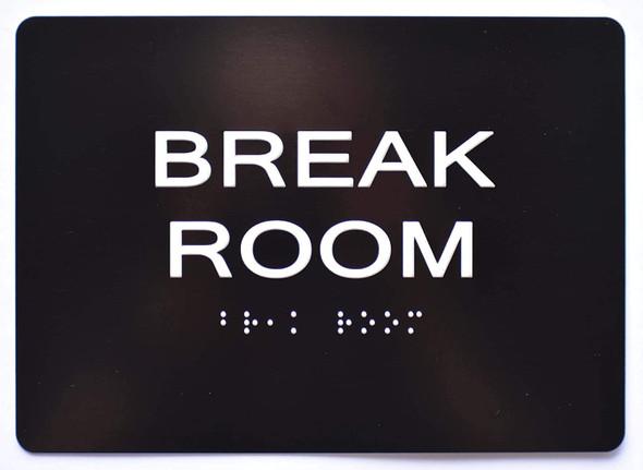 Break Room  Signage Black