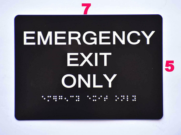 Emergency EXIT ONLY  Black ,