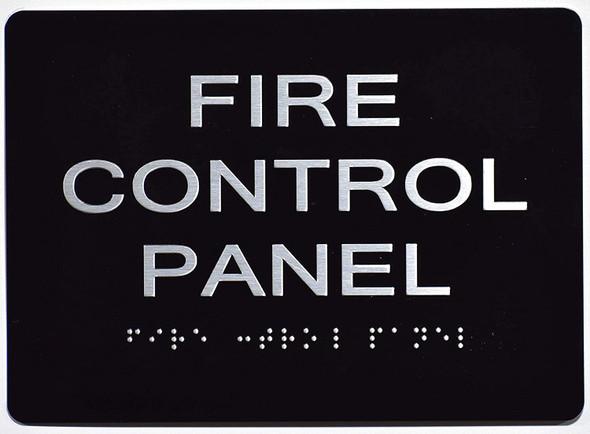 FIRE Control Panel  Signage Black ,
