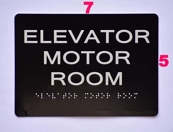 Elevator Motor Room  Black ,
