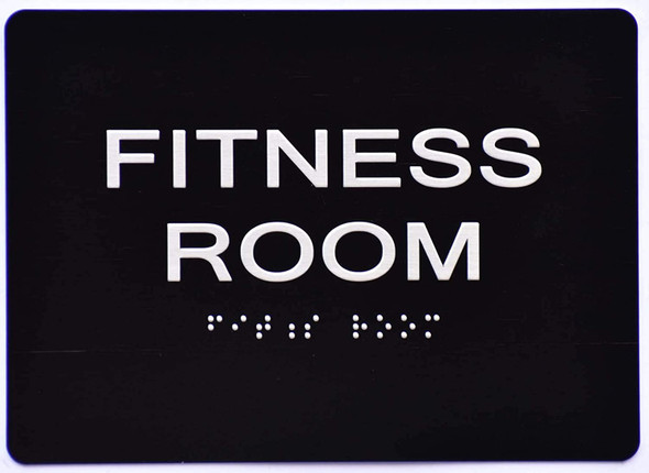 Fitness Room  Signage - Black ,