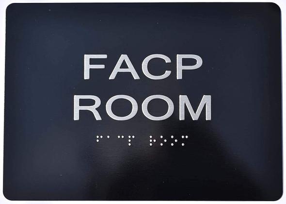 FACP Room  Signage - Black ,
