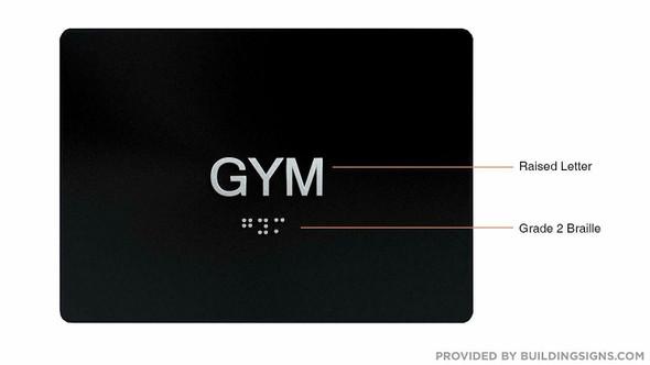 Gym Door  Signage- Black