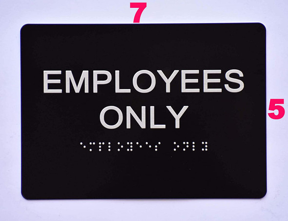 Employees ONLY  Black