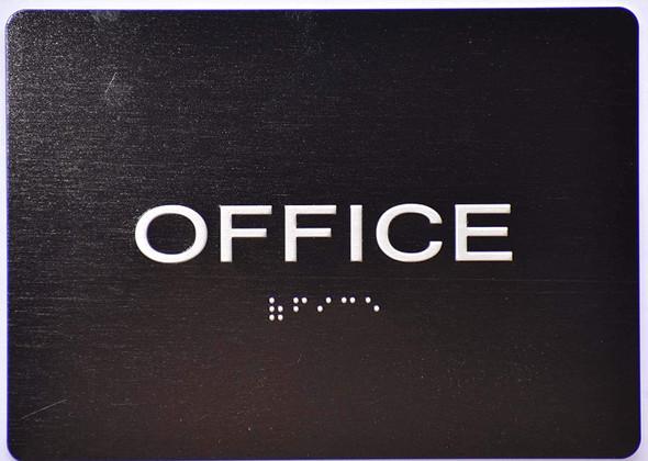 Office Door  Signage -Black,