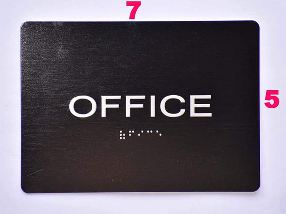 Office Door  -Black,