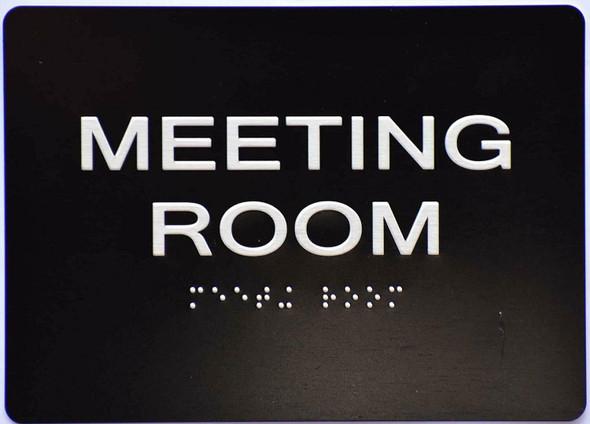 Meeting Room  Signage -Black,