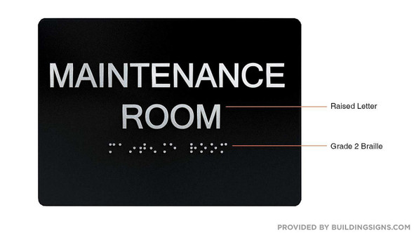 Maintenance Room  -Black,