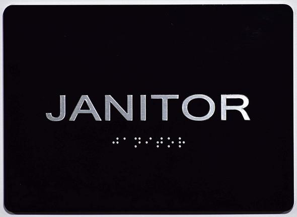 Janitor  Signage Black