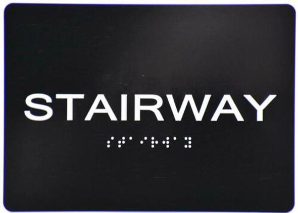 Stairway  Signage -Black,