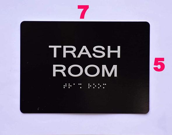 Trash Room  -Black,