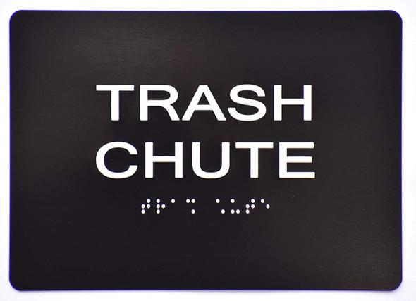 Trash Chute  Signage -Black,