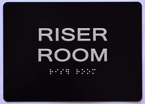 Riser Room  Signage -Black,