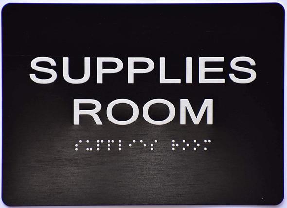 Supplies Room  Signage -Black,
